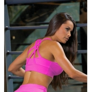 SOLD OUT! Neon Pink Cosmopolitan Supplex Sports Bra