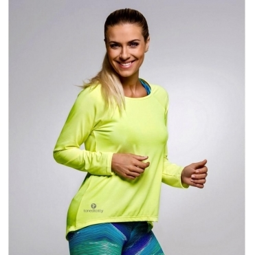 SOLD OUT! Neon Yellow 'Lazy Days 2' Long sleeve Fitness Top