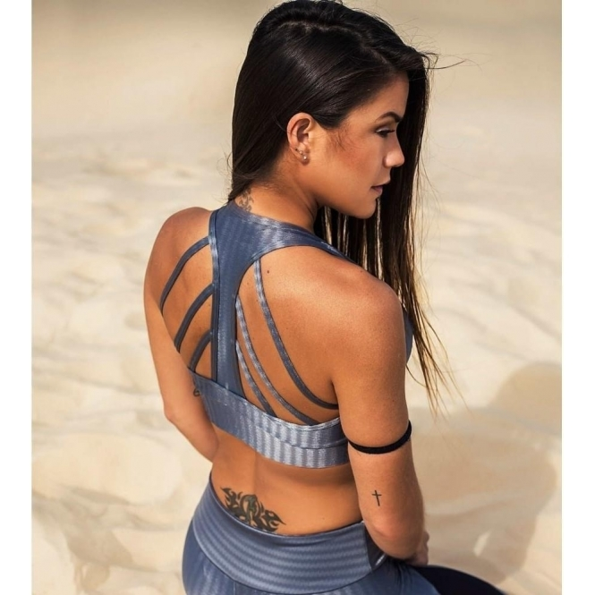 'Steel-ing The Show' Strappy Back Fitness Bra top