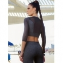 'Strength Meets Style' Supplex Tulle Luxury Top