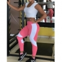'Strike A Pose' Watermelon & White Running Tights