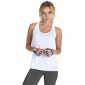 'Superfly' White Swing Style Fitness Vest Top