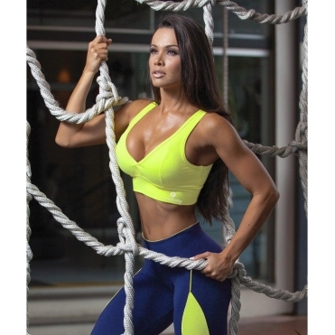 Supplex V-Back Sports Fitness Bra