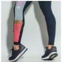 'Team Totty' Gym Edt. Black / Neon Coral Leggings  High Waist