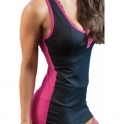 'Tell Me About It Stud' Black/Pink Fitness Vest Top