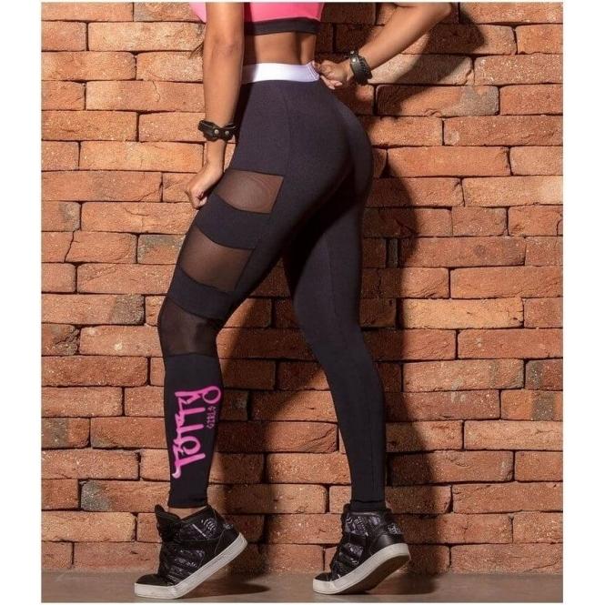 'Totty Girls' Black Gym Leggings High Waist
