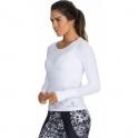 'Ultracool' Longsleeve White Sports Top