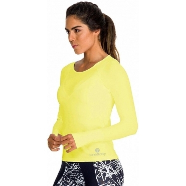 'Ultracool' Neon Yellow Sports Top