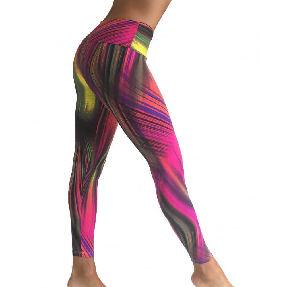 funky print gym leggings sport performance light supplex lycra sport. Black Bedroom Furniture Sets. Home Design Ideas