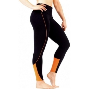 'Va Va Voom' Black and Orange Gym Leggings