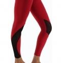 'Vamp It Up' Luxury Red Fitness Leggings
