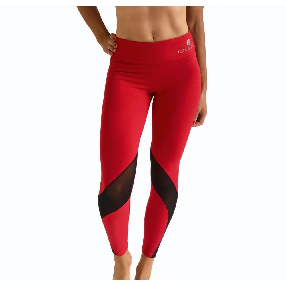 2f45ddb37587e Women's 'Vamp It Up' Luxury Red Fitness Leggings