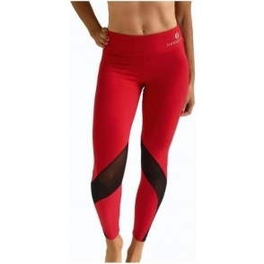 'Vamp It Up' Luxury Red Fitness Leggings