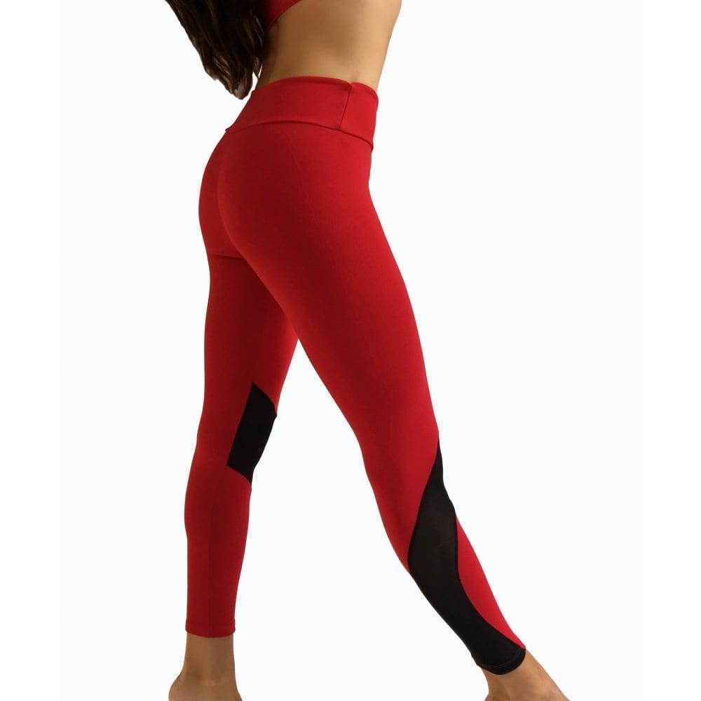 645b9e18e6bcc 'Vamp It Up' Luxury Red Fitness Leggings