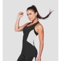 'Vice Versa' Black Sports Fitness Vest Top