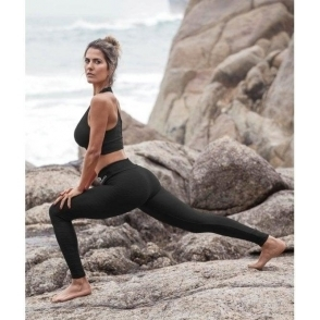 'Walk The Walk' Luxury Black Fitness Leggings