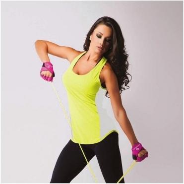 Women's Dip Hem 'Jet-Set-Go' Fitness Vest Top 2 Colours
