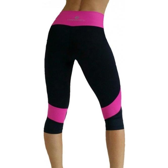 Womens 'Go-Getter' Sports Fitness 3/4 Leggings
