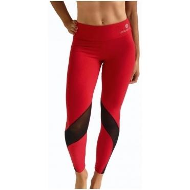 Women's 'Vamp It Up' Luxury Red Fitness Leggings
