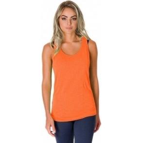 'Zesty Vesty' Orange Fitness Vest Top